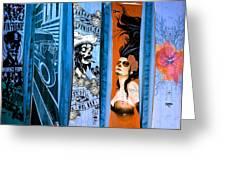 Bluesy Skateboard Art Greeting Card