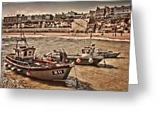 Boats At Broadstairs Greeting Card