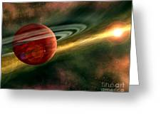 Born In Space Greeting Card
