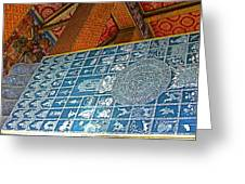 Bottom Of A Foot Of Reclining Buddha In Wat Po In Bangkok-thail Greeting Card