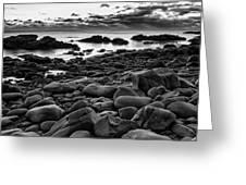 Boulders At Sunrise Marginal Way Greeting Card by Jeff Sinon
