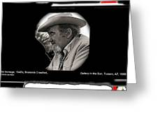 Broderick Crawford  All The King's Men Homage 1949 Gallery In The Sun Tucson Arizona Greeting Card