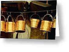 Buckets At Esfahan Market Greeting Card