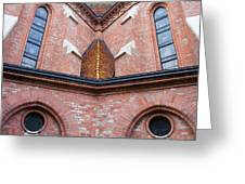 Buda Reformed Church Architectural Details Greeting Card