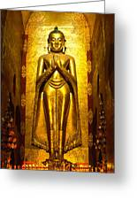 Buddha Inside Ananda Temple - Bagan - Myanmar Greeting Card