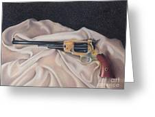 Buffalo Blackpowder Revolver  Greeting Card by Elizabeth Dobbs