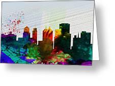 Buffalo City Skyline Greeting Card