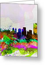 Buffalo Watercolor Skyline Greeting Card