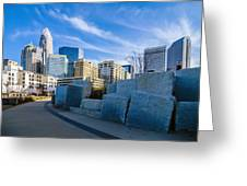 Charlotte Nc  View Of Charlotte Skyline  Greeting Card