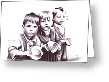 Children Should Not Need Food ... Greeting Card