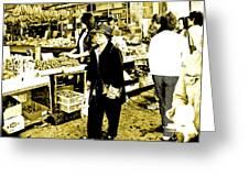 China Town Marketplace Greeting Card