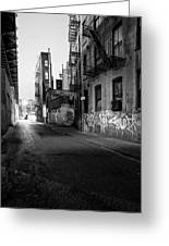 Chinatown New York City - Mechanics Alley Greeting Card