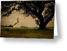 Church On The Plain Greeting Card