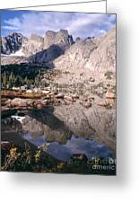 Cirque Of The Towers In Lonesome Lake   Greeting Card