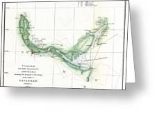 Coast Survey Chart Or Map Of The Savannah River Ans Savannah Georgia Greeting Card