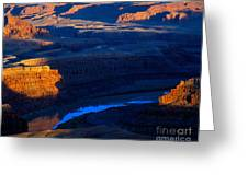 Colorado River Sunset Greeting Card
