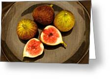 Common Fig Ficus Carica Greeting Card by Venetia Featherstone-Witty