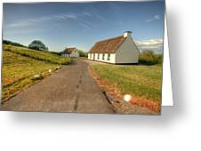 Corofin Thatched Cottages Greeting Card
