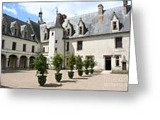 Courtyard Chateau Chaumont Greeting Card