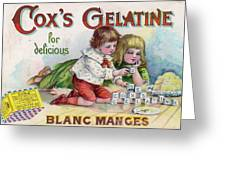 Cox's Gelatine For Delicious Greeting Card