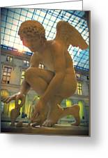 Cupid Playing With A Butterfly - Louvre Museum Paris Greeting Card