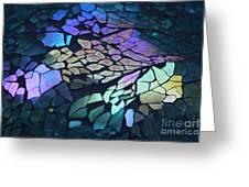 Cut Glass Mosaic  Greeting Card