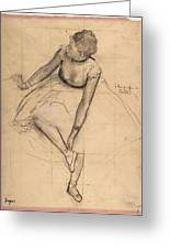 Dancer Adjusting Her Slipper Greeting Card