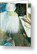 Dancer In Her Dressing Room Greeting Card