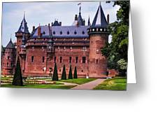 De Haar Castle 4. Utrecht. Netherlands Greeting Card by Jenny Rainbow
