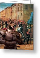 Doberman Pinscher Art -entree De Charles Viii Dans Florence Greeting Card