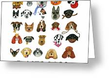 Dogs Twenty Five Breeds Greeting Card