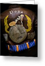 Dona Bomber Jacket Greeting Card