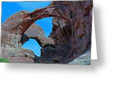 Double Arch - Arches National Park Greeting Card