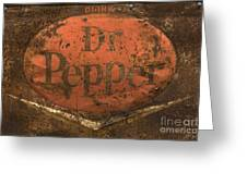 Dr Pepper Vintage Sign Greeting Card