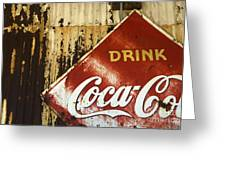 Drink Coca Cola  Memorbelia Greeting Card