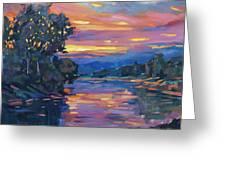 Dusk River Greeting Card