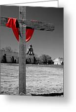 Mission San Juan Easter Cross Greeting Card