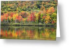 Echo Lake Fall Reflections Greeting Card