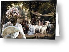 English Mastiff  - Mastiff Art Canvas Print - The Garden Party Greeting Card
