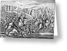 English Soldiers Under Edward  IIi Greeting Card