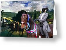Entlebucher Sennenhund  - Entelbuch Mountain Dog Art Canvas Print -who Is The Winner Of The Race Greeting Card