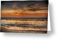 Evening At The Beach Greeting Card