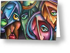 ' Face Us 2' Greeting Card
