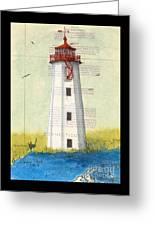Faulkner Island Lighthouse Ct Nautical Chart Map Art Greeting Card