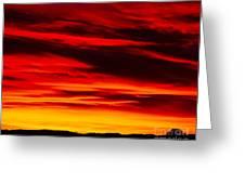 Fiery Furnace Sunset Greeting Card