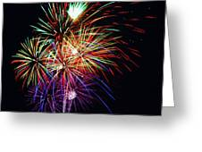 Fireworks Across The Bay Greeting Card