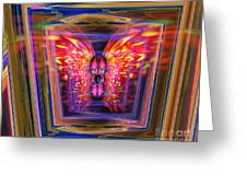 Flaming Butterfly Mixed Media Painting Greeting Card