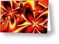 Flaming Red Flowers Greeting Card