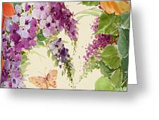Flowering Butterfly Bush Greeting Card
