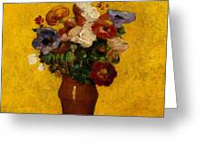 Flowers Greeting Card by Odilon Redon